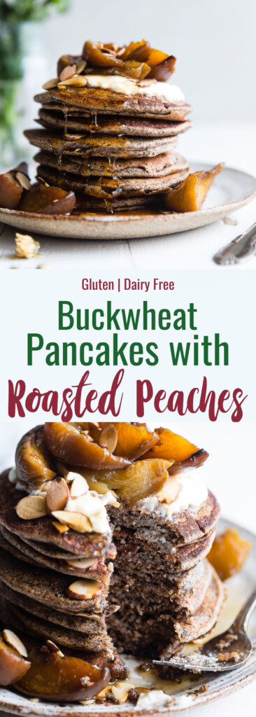 Buckwheat Pancakes collage photo