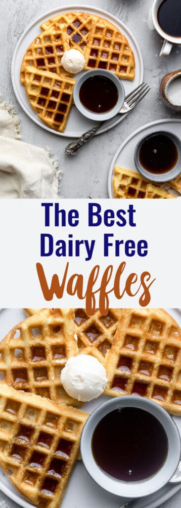Dairy Free Waffles collage photo